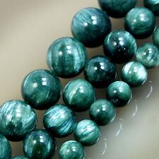 6mm 8mm 10mm A++ Natural Green Seraphinite Round Beads 15.5""