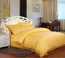 Yellow Soft 100% COTTON AUS Quilt Cover or Sheet Set, Flat,Fitted,Pillowcases