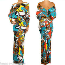 BUTTERFLY Print MULTI WAY Reversible Convertible MAXI DRESS Off Shoulder