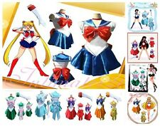 Women Costume Deluxe Sailor Moon Tsukino Usagi Cosplay Uniform Fancy&Gloves@AS01