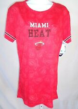 Miami Heat Ladies Short Sleeve Burnout T-Shirt Red