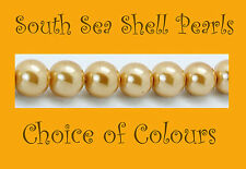 8mm 'A' Grade South Sea Shell Pearls - Whole or Half String - FREE POSTAGE