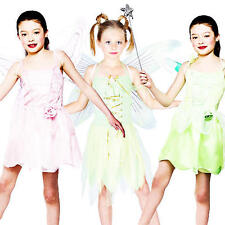Fairy Costume + Wings Girls Fancy Dress Fairytale Book Charater Kids Costume New