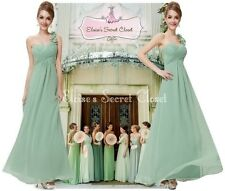 NWT Pale Green Sage Pistachio Corsage Chiffon Evening Bridesmaid Dress 8 -18