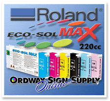 New OEM Roland Eco-Sol MAX Ink CYMK LC LM WH MT 220cc Cartridge