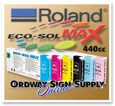 New OEM Roland Eco-Sol MAX Ink CYMK LC LM WH MT 440cc Cartridge