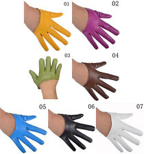 Fashion Sexy Women's Faux Leather Half Five Finger Half Palm Warm Gloves Mittens