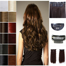 17-27 3/4 Full Head One Piece 5Clips In Hair Extensions USA Sexy All Styles e6