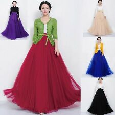 New Vintage Bowknot Empire Waist Chiffon Pleated Tiered Dress Long Skirt Gown