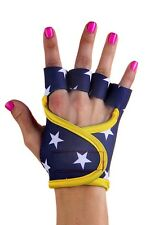 G-loves Wonder Woman blue stars running body building gym womens obstacle gloves