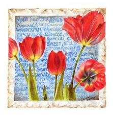 TULIP FLOWER PICTURES WALL ART DECOR PRINT MOM GIFTS MOTHERS DAY WORD DRAWING