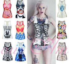 Game of thrones Digital Print Gothic Punk Tank Top Summer Bodysuit Dress @MD5001