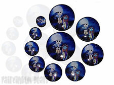 Jack & Sally Nightmare Before Christmas Flesh Ear Tunnel Plug