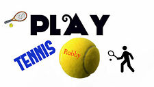 PLAY TENNIS poster print { SPORTS } WALL ART Kids teens school Game { In Inches
