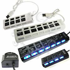 4 or 7 Port USB 2.0 External Multi Expansion Hub with ON OFF Switch indicator