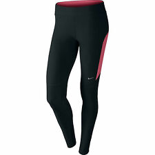 Nike Womens Filament Running Gym Workout Dri Fit Tights Leggings - Black & Pink