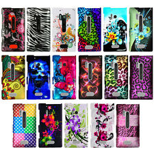 For Nokia Lumia 928 Exotic Designs Rubberized Snap On Hard Case Phone Cover NEW