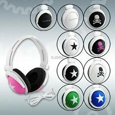 10 DESIGNS COOL SKULL STAR 3.5MM HEADPHONE HEADSET EARPHONE FOR PC MP3 CELLPHONE