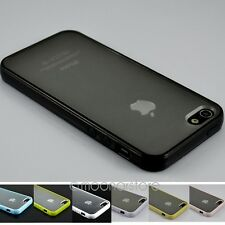 Fashion TPU Bumper Frame Simple Clear Skin Case Cover for iphone 5 5S