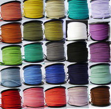 27 Colours 10/50 meters Flat Faux Suede Leather Cord 3mm×1.5mm - Craft Beads