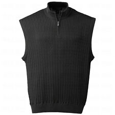 Oxford Golf Mens Rockmills Baby Cable Knit 1/4-Zip Sweater Vest