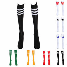 Striped Sports Football Outdoor Exercising Cheerleading Knee High Socks