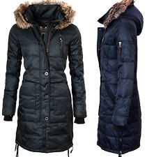 SUBLEVEL DAMEN ECHTE DAUNEN JACKE STEPP OUTDOOR MANTEL WINTER JACKE PARKA