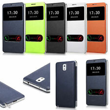 Leather Flip Smart View Cover Case for Samsung Galaxy Note 3 N9000 Nice