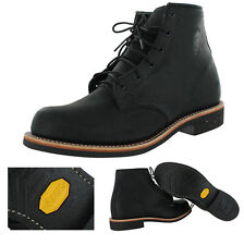 "Chippewa 6"" Odessa Men's Leather Work Vibram Boots Made In USA 2E Wide"