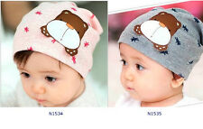 Comfortable Baby Infant Kid Cotton Beanie Bear Home Hat Cap For 3 to 36 months