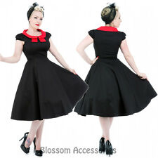 RKH61 Hearts & Roses Red Bow Rockabilly Formal Evening Dress 50s Retro Plus