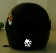 SKULL WITH SPIKES REFLECTIVE MOTORCYCLE HELMET DECAL..2 FOR 1 PRICE