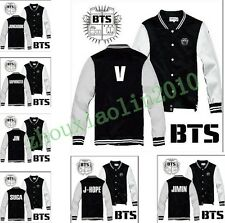Kpop BTS Bangtan Boys Team Fashion Buttons hoodies Warm Fashion sweater Jacket