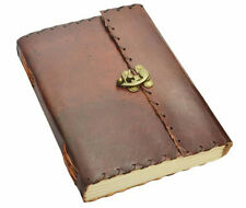 Side Stitch Leather Bound Journal, Note Book, Sketch Pad with Hook Clasp