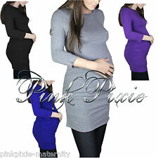 Maternity Clothes Pregnancy Long Top Jumper Size 8 10 12 14 16 NEW