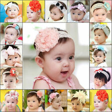 Baby Infant Kid Girl Toddler Hairband Lace Bow Flower Headband Hair Accessories