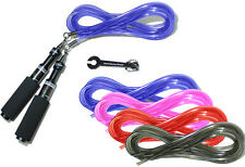 Buddy Lee Aero Speed Jump Rope with Blue Cord & Extra Replacement Cord