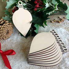 Wooden OVAL BAUBLES Christmas Blank Birch Decoration Card Topper Craft Shape