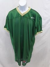 College Authentic Blank Football Jersey Green with Vegas Trim