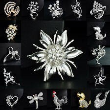 New Wedding Brooch Jewelry Gift Crystal Rhinestone Silver flower Bridal Bonquet