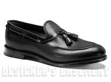 GUCCI mens Black leather DIAMANTE trim TASSELS loafers shoes NIB Authentic $780!