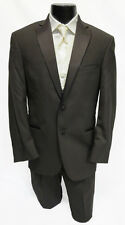48R Designer Calvin Klein Brown Cadbury Tuxedo w Pants Vest Tie Fall Wedding