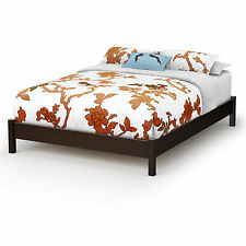 South Shore Step One Platform Bed Frame Twin Full Queen Brown Black White Maple