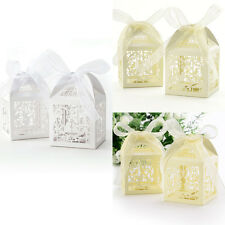 25/50PCS Favor Gift Boxes Wedding Anniversary Candy Decor Birds Cage Fresh Color