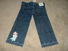 NEW Girl Gymboree Snowflake Glamour Hippo Jeans Pants Size 18-24 2T 3T 4T NWT