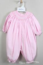 NWT Petit Ami Pink Smocked Gingham Bubble Romper 3 6 9 Months Baby Girls