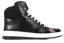DIOR MEN'S SHOES HIGH TOP LEATHER TRAINERS SNEAKERS NEW BLACK  009