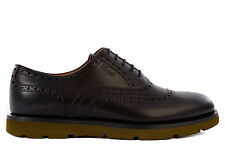 GUCCI MEN'S CLASSIC LEATHER LACE UP LACED FORMAL SHOES NEW BROGUE BLACK  50E