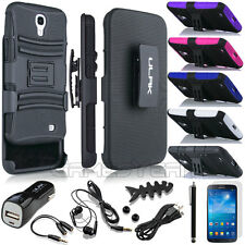 Belt Clip Holster Skin Rugged Hybrid Hard Stand Case For Samsung Galaxy Mega 6.3