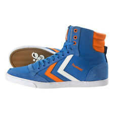 HUMMEL TRAINERS SLIMMER STADIL HIGH CANVAS HI TOPS UK 11 BRILLIANT BLUE
